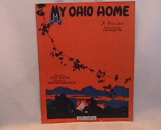 My Ohio Home Leo Feist Vintage 1927 Sheet Music