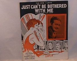 Just can t Be Bothered With Me Vintage 1929 Sheet Music - $7.00