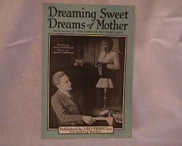 Sweet Dreams of Mother Vintage Sheet Music - $7.00