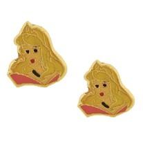 14K Princess Aurora Screw Back Earrings For Children - $35.27