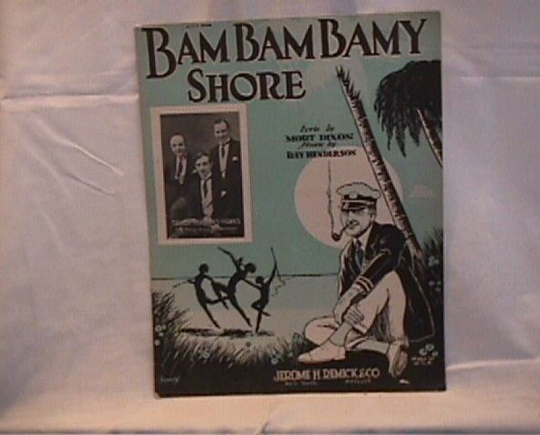 Bam Bam Bamy Shore Vintage Sheet Music