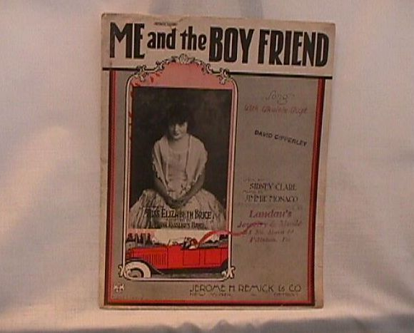 Me And The Boy Friend Remick Vintage 1924 Sheet Music