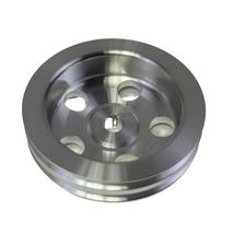 Saginaw Power Steering Pump Double-Groove Aluminum Pulley For GM (Chrome) image 4