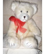 ADORABLE WHITE STUFFED PLUSH BEAR - NEW - $14.00