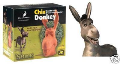 Dreamworks SHREK Chia Donkey- decorative planter