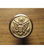 Vintage WWI US Army Chin Strap Button w Fastner - Mint - $7.00