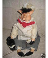 Ceramic Pig Doll - Adorable Primative doll  - $20.99