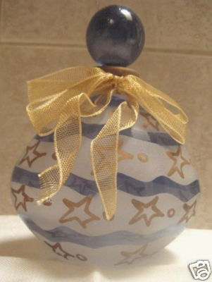 Perfume Bottle -Blue and white w/ stars- Made in Italy