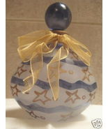 Perfume Bottle -Blue and white w/ stars- Made in Italy - $20.00