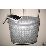 Brand NEW Woven SILVER LEATHER SHOULDER BAG w tags - $39.99
