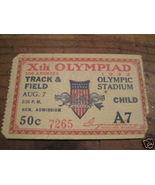 1932 - Xth Olympiad Track & Field Child Tkt gen admin - $45.00