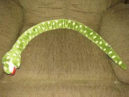 MARY MEYER STUFFED PLUSH GREEN YELLOW POLKA DOT SPOT CIRCLE SNAKE image 3
