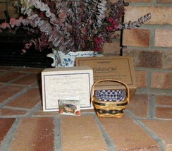 Longaberger 2001 JW Miniature Berry Basket Combo New In Original Packaging - $69.25