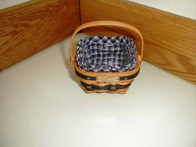 Longaberger 2001 JW Miniature Berry Basket Combo New In Original Packaging