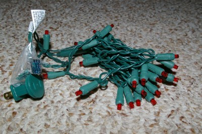 30 Red LED Lights Green Wire Party Christmas
