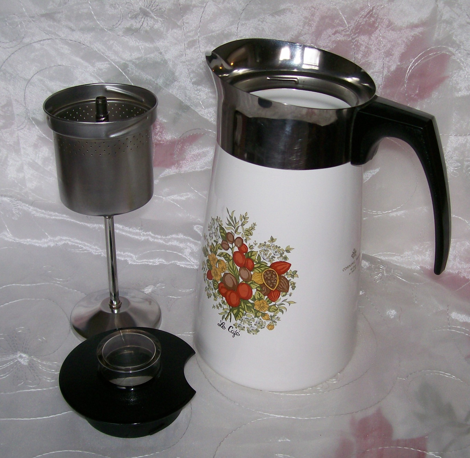 Vintage Corning SPICE OF LIFE Stove Top 10 Cup Coffee Pot / Percolator P149- EUC - Corning Ware ...