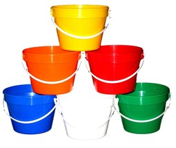 50 1 Gallon Buckets Mix of Colors  Made in America Lead Free No BPA Durable - $156.66