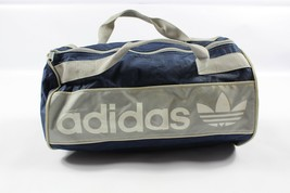 Vintage 80s Adidas Spell Out Trefoil Handled Nylon Weekender Travel Bag ... - $58.67 CAD
