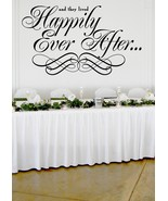 "Happily Ever After Wedding Wall Decor Vinyl Sticker Decal 30""h x 50""w - $59.99"