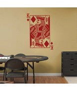 KING of DIAMONDS Playing Card Poker Blackjack Vinyl Wall Sticker Decal - $29.99