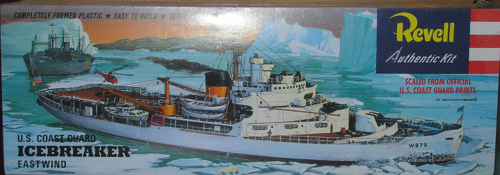 New Vintage Revell US Coast Guard Icebreaker Eastwind Model #0337