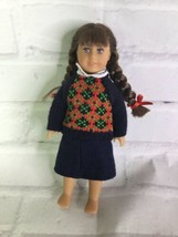 American Girl Molly McIntire Mini Doll in Meet Outfit Dark Brown Hair Pi... - $24.74