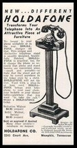 Rotary Telephone Stand AD 1938 Smart Modern Design Holdaphone Illustrate... - $12.99