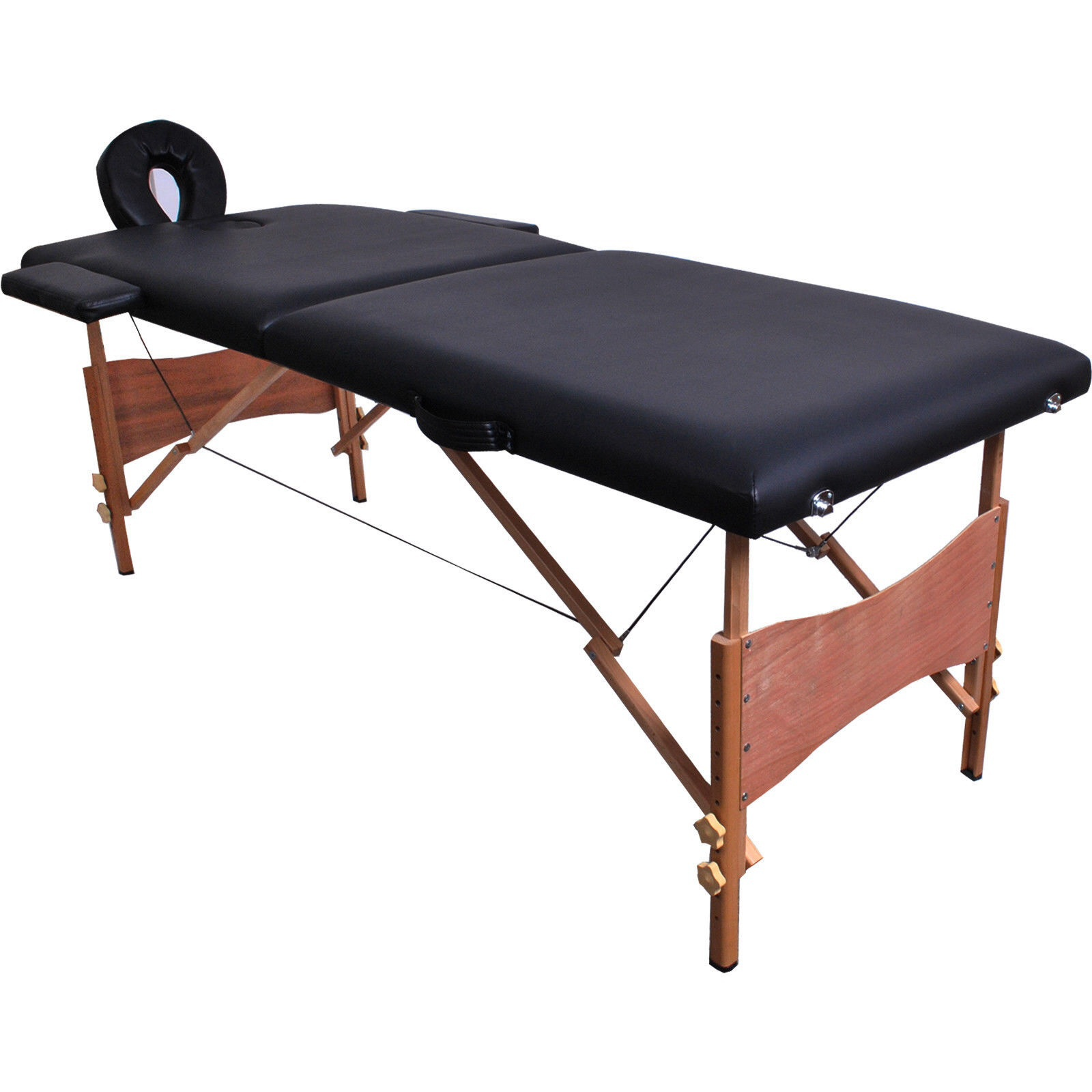 """New 84""""L Portable Massage Table Facial SPA Bed Tattoo w/Free Carry Case Black"""