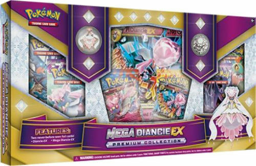 MEGA DIANCIE EX Premium Collection Box POKEMON Trading Cards Packs + BONUS