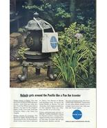 1968 Pan AM airlines Japanese Stone Lantern print ad - $10.00