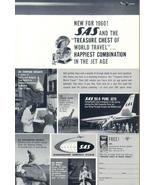 1960 SAS Scandinavian Airlines System holidays print ad - $10.00