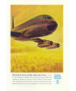 1963 Pratt & Whitney Aircraft JT3D turbofan engines print ad - $10.00
