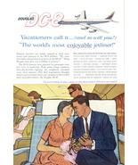 1959 Douglas DC-8 Jetliner aircraft art work print ad - $10.00