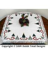 Oh Christmas Tree  Tabletopper cross stitch chart Dutch Treat Designs - $8.00