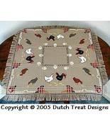 Hen Party Tabletopper cross stitch chart Dutch Treat Designs - $7.00