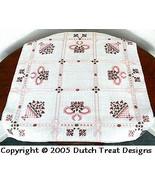 Pink Tabletopper cross stitch chart Dutch Treat Designs - $7.00