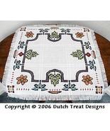 Stained Glass Garden Tabletopper cross stitch chart Dutch Treat Designs - $7.00