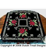 Rose Tabletopper cross stitch chart Dutch Treat Designs - $7.00