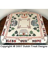Bless Our Home Tabletopper cross stitch chart Dutch Treat Designs - $7.00