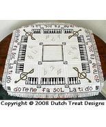 Music Tabletopper cross stitch chart Dutch Treat Designs - $8.00