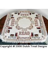 Reading   Tabletopper cross stitch chart Dutch Treat Designs - $8.00