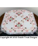 Posies In Pink Tabletopper cross stitch chart Dutch Treat Designs - $7.00