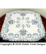 Diamonds and Swirls Tabletopper cross stitch chart Dutch Treat Designs - $7.00