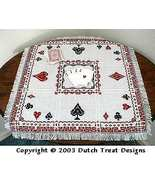 Let's Play Cards Tabletopper cross stitch chart Dutch Treat Designs - $8.00