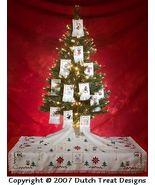 12 Ways Of Christmas Tree Skirt Ornaments cross stitch chart Dutch Treat... - $8.00