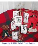 12 Ways Of Christmas Ornaments cross stitch chart Dutch Treat Designs - $10.00