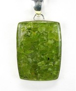 Rectangle of Natural Green Aquamarine inside Qu... - $116.16