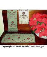 3 For Christmas cross stitch chart Dutch Treat Designs - $8.00