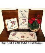3 For Summer cross stitch chart Dutch Treat Designs - $8.00