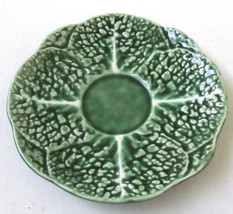 Majolica Green Christmas Color Collectible Display Plate Made in Portugal - $25.00
